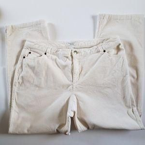 Charter Club Pant Shop White Corduroy Slacks 16